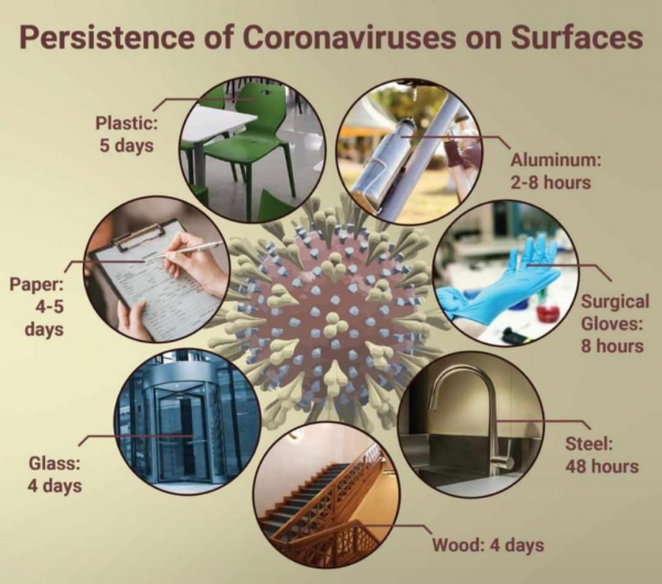 persistence of coronavirus on surface