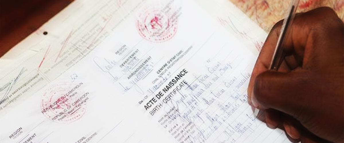 Without a Birth Certificate, We Do Not Exist! (Re)Thinking The Civil Status System in Cameroon